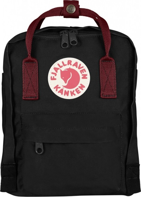 Fjällräven Kanken Mini (29x20x13cm) Rucksack - Black-Ox Red