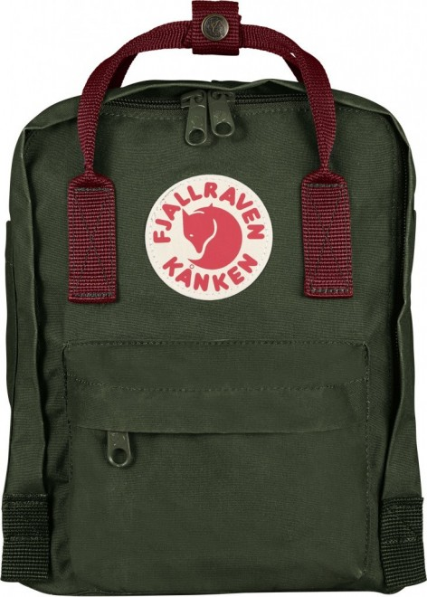Fjällräven Kanken Mini (29x20x13cm) Rucksack - Forest Green-Ox Red – Bild 1
