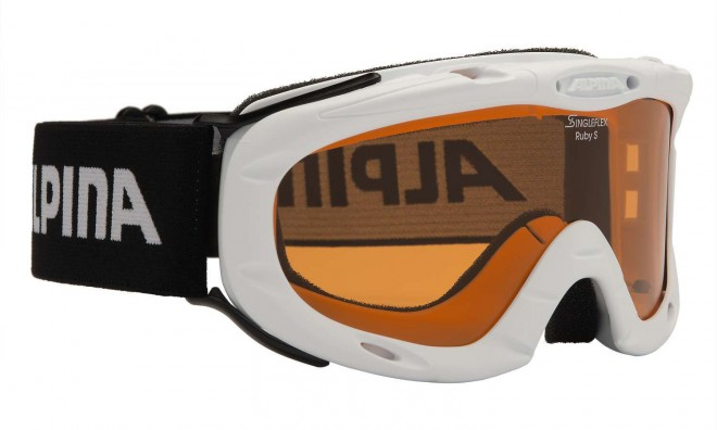 Alpina Ruby S Jugend-Skibrille - white