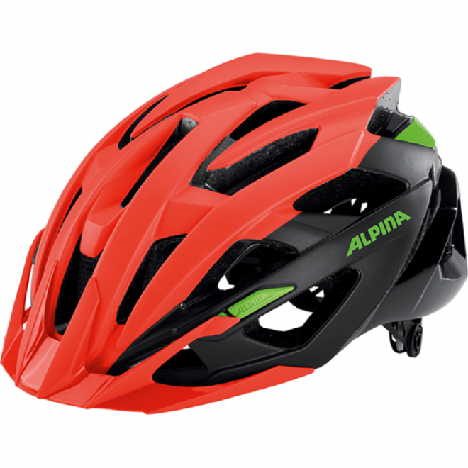 Alpina Valparola XC Fahrradhelm - neon red-black-green